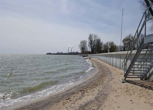 E.S. Wagner - Monroe Michigan - Lake Erie Seawall